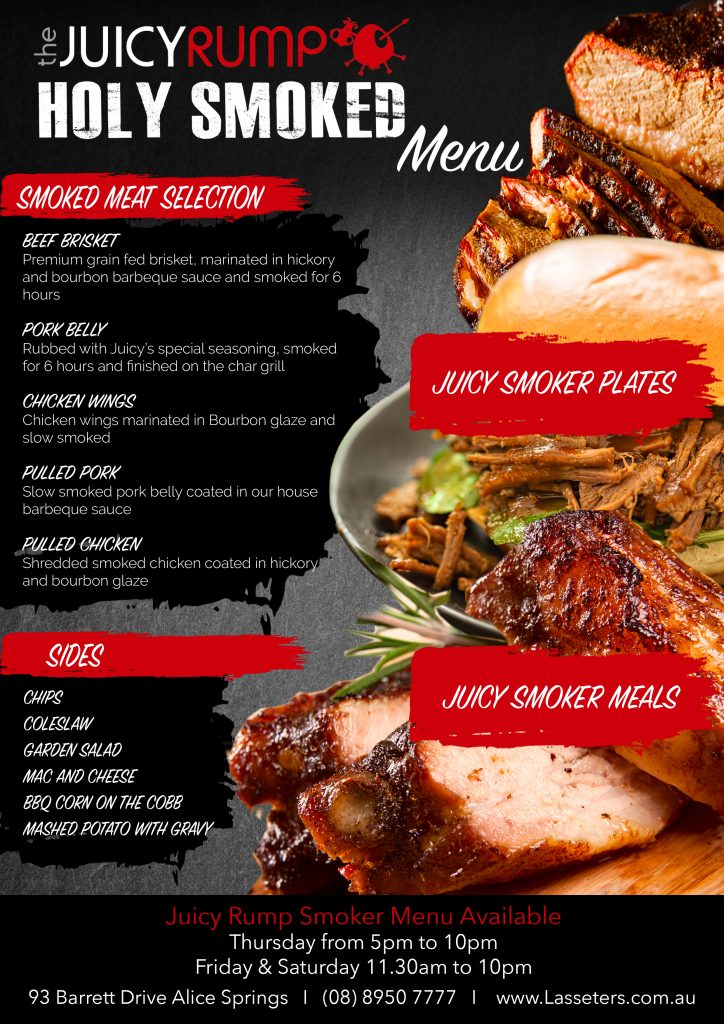 Juicy Rump Menu